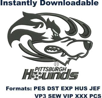 Pittsburgh Riverhounds Black logo embroidery design
