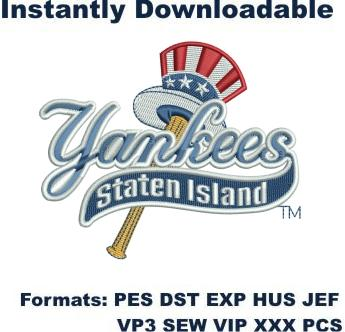 staten island yankees logo embroidery design