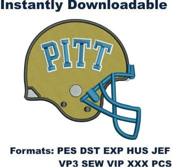pittsburgh panther football helmet embroidery design