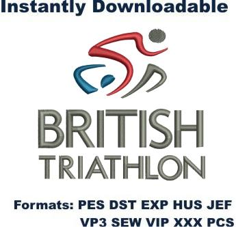 British Triathlon Federation logo embroidery design