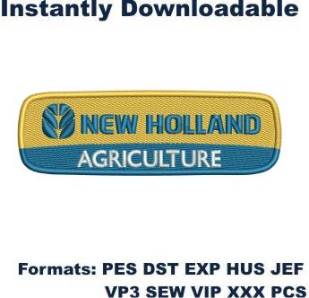 new holland agriculture logo embroidery design