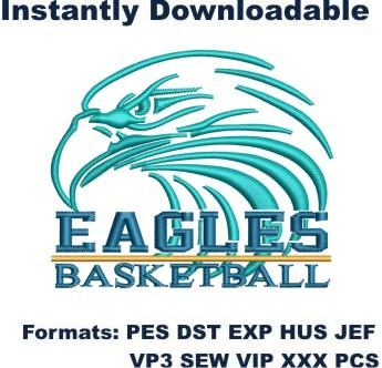 Eagles Basketball Club embroidery design
