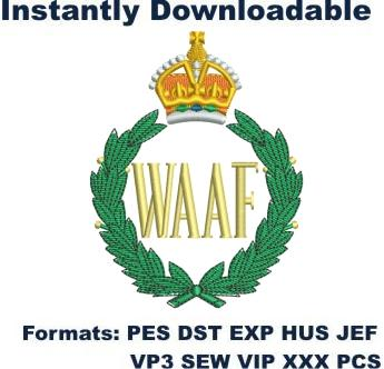 Waaf Logo embroidery design