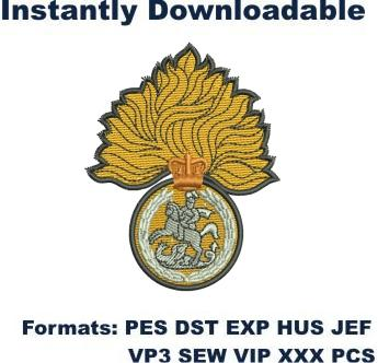 ra and rl regimental association embroidery design
