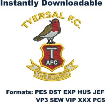 Tyersal Football club embroidery design