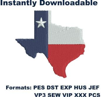 lone star state texas logo embroidery design