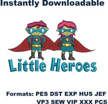 little heroes embroidery design