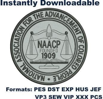 naacp logo embroidery design