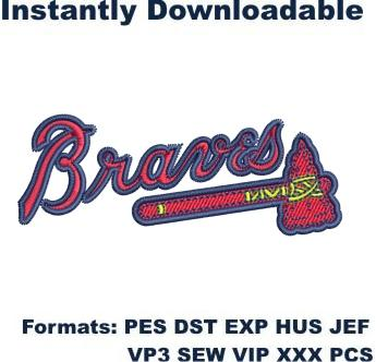 Atlanta braves logo embroidery design
