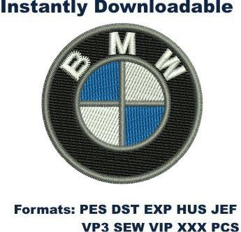 Bmw bmw small logo Embroidery Design