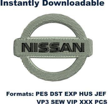 nissan car small logo embroidery design