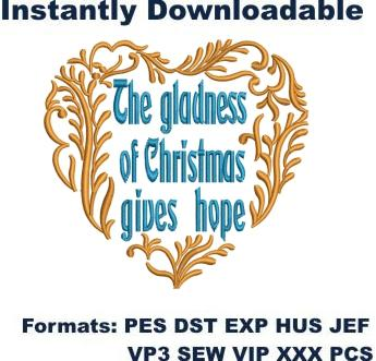 Gladness of Christmas Embroidery Designs