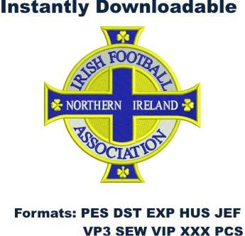 Irish football Northern Ireland logo embroidery design