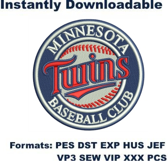 Minnesota Twins Baseball Club embroidery design