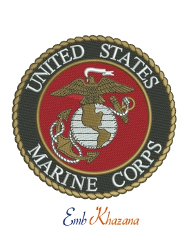 United States Marine Corps  embroidery design