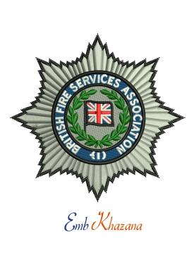 British Fire Service Association Logo Embroidery Designs