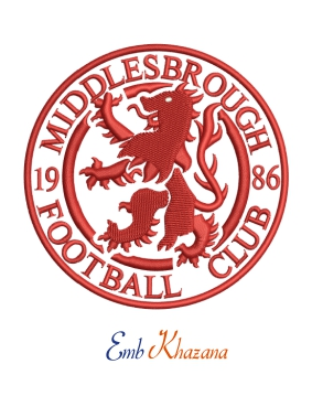 Middlesbrough Fc logo embroidery design