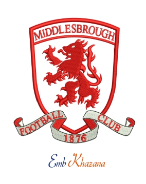 Middlesbrough Football Club logo embroidery design