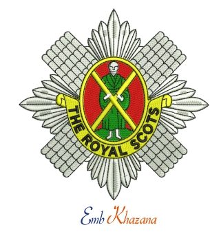 Royal Scots Logo embroidery design