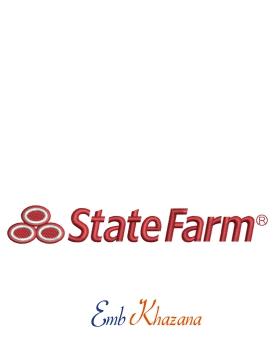 State Farm logo embroidery design