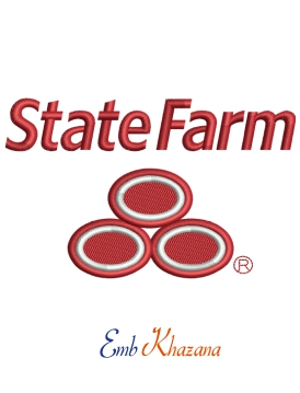 State Farm logo embroidery design