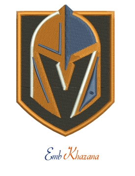 las vegas golden knights logo embroidery design