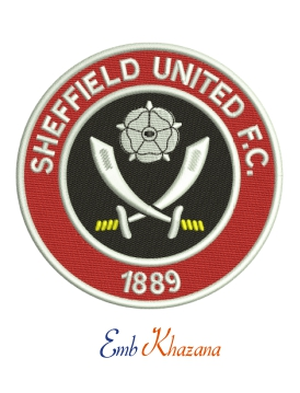 Sheffield United fc embroidery design