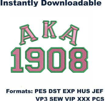Alpha Kappa Alpha Logo Embroidery Design