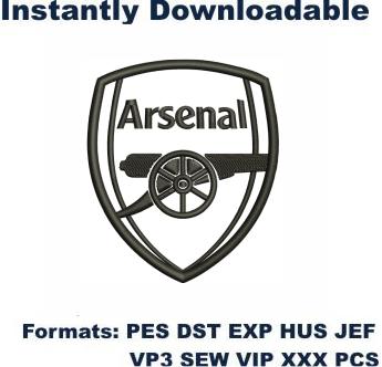 Arsenal Logo Embroidery Design