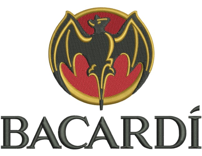 Bacardi Logo Embroidery Designs