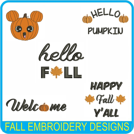 Fall Embroidery Design