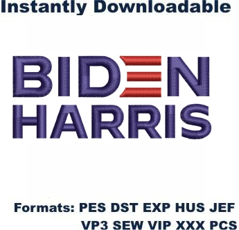 Biden Harris Logo Embroidery Designs