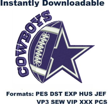 Dallas Cowboys Star Logo Embroidery Design