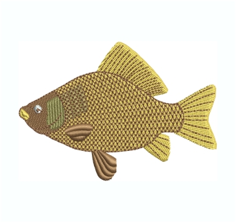 Crucian Fish Embroidery Design