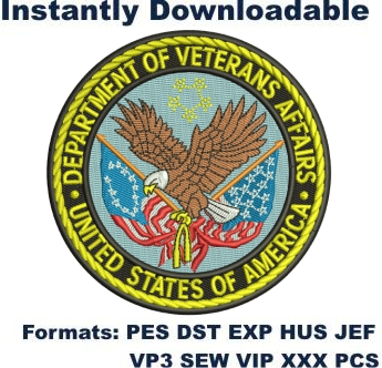 Department of Veterans Affairs embroidery design