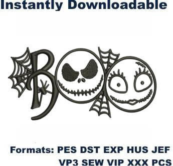 Boo Embroidery Designs