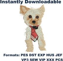 Dog puppy embroidery design