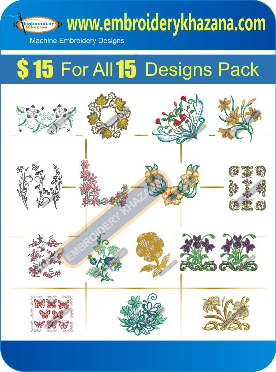 FLOWER DESIGN PACK 4