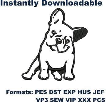 Frenchie Dog Embroidery Designs