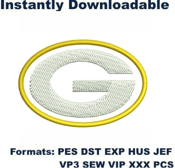 Green Bay Packers Logo Embroidery Design