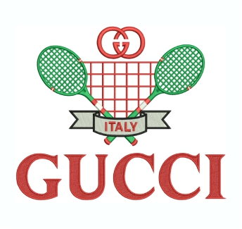 Gucci Tennis Logo Embroidery Design