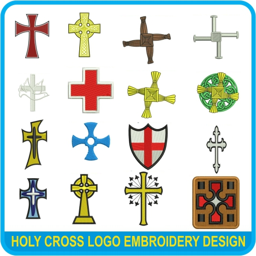 holy cross machine Embroidery Designs