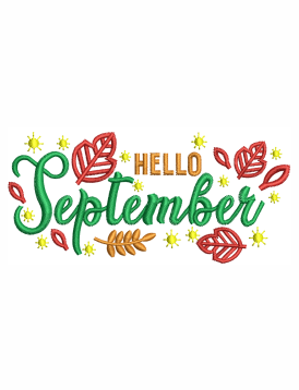 Hello September Embroidery Designs