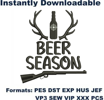 Beer Season Embroidery Designs