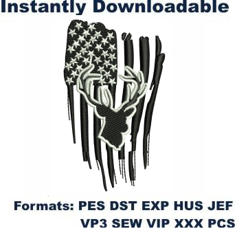 Hunting Flag Embroidery Designs