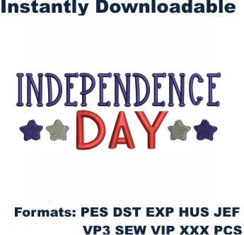 Independence Day Embroidery Designs