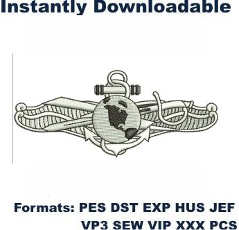 Information Dominance Warfare Embroidery Designs