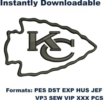 Kansas City Chiefs NFL Logo Embroidery Design