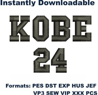 Kobe 24 Logo Embroidery Designs