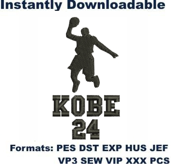 Kobe Bryant Embroidery Designs